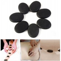 7pcs /set Hot Stone Massage Basalt Rocks 3*4cm Size Therapy Stone Pain Relief