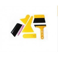 7Pcs Car Auto Window Scraper Wrapping Tint Vinyl Film Squeegee Cleaning Tools Kit