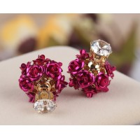 New fashion flower stud earrings for Women