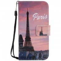 Painted Eiffel Tower flip leather case for Samsung Galaxy S3 S4 S5 S6 edge G360 G530 card cover Card slot wallet with kickstand phone stand