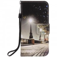 Painted Cityscape flip leather case for iphone 5 5s 6 6s 7 plus card cover Card slot wallet with kickstand phone stand