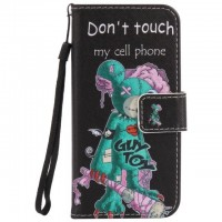 Painted One-eyed mice flip leather case for iphone 5 5s 6 6s 7 plus card cover Card slot wallet with kickstand phone stand