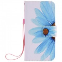 Painted sunflower flip leather case for iphone 5 5s 6 6s 7 plus card cover Card slot wallet with kickstand phone stand