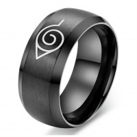 Fashipn anime naruto male ring high quality titanium steel punk rings jewelry
