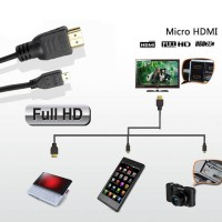 Micro HDMI TO HDMI 1.4 tieline adapter cable 3D HDTV
