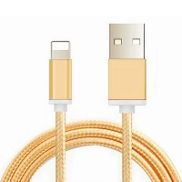 USB Cable 2A Metal Braided Cord Data Wire Charger cable For iphone