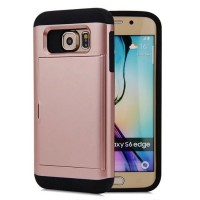 Multifunction case for Samsung Galaxy S6 edge credit card slot wallet Double layer protection Shockproof