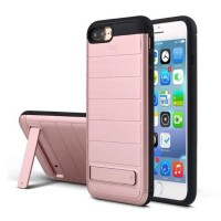 Multifunction case for iphone 6 / 6s / 6 plus / 6s plus / 7 / 7 plus with kickstand credit card slot wallet Shockproof