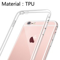 Ultra thin Transparent TPU soft shell cell phone case for iphone 5 5s 6 6s 7 plus