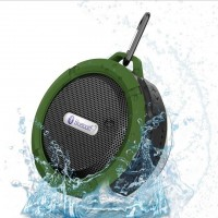 Wireless Bluetooth 3.0 Waterproof Outdoor & Shower Speaker with 5W Speaker/Suction Cup/Mic/Hands-Free Speakerphone