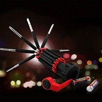 Outside bicycle Tool kit Home hand tools- Tooluxe Multifunction LED Flashlight Screwdriver 8 In 1