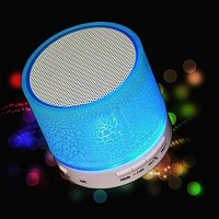 Mini Wireless Bluethooth Speaker A9 Smart LED Lights Portable Stereo Audio Player Support TF Card/USB Flash Drive/FM for phone PC with Mic