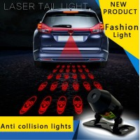 Cute Car Tail Laser Fog Light TIMO Rear Anti-Collision Safety Signal Warning Lamp