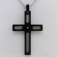 304# Stainless Steel Cross Pendant with Austrian Crystals Religion Gift