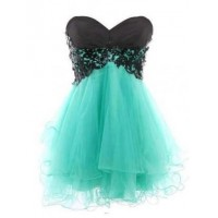 Free Shipping Fashion Cody Butterfly Dress/ Lace Ball Gown Sweetheart Mini Prom Party Dress