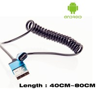 2016 Micro Usb Male To Usb Male Spring Retractable Stretch Cable Sync Data Charge For Samsung HTC LG
