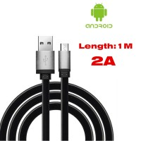 Genesis Flat Microusb Cable 2A Quick Charge Adapter USB Charger for Samsung S2 S3 Note for HTC/LG/Lenovo/Huawei/XiaoMi