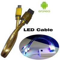 Colorful LED Short Micro USB Sync Data Charger Cable for HTC Nokia Moto Xperia for Galaxy S4 S3 note 2 Lg nexus 4 5