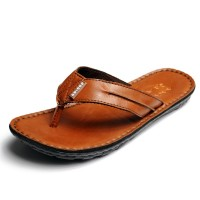 Mens Shoes New Arrival Male sandals Men Genuine Leather Flip Flops Shoes Leather Slippers