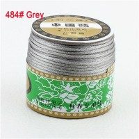 2mm Grey Nylon Cord Jewelry Findings Accessories Rattail Satin Macrame Rope Shamballa Bracelet Beading Cords 60m/Roll