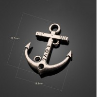 300pcs New Antique Silver LOVE Anchor Jewelry Charms Pendants-DIY Necklace Bracelet Metal Fashion Accessories 22.7 mm X 18.8 mm