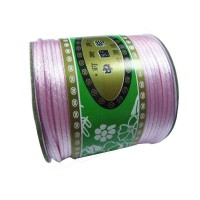 2mm Lt Pink Rattail Nylon Cord+60m/roll Jewelry Findings Macrame Rope Shamballa Bracelet String Beading Cords Accessories