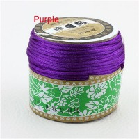 2mm Purple Nylon Cord Jewelry Findings Accessories Rattail Satin Macrame Rope Shamballa Bracelet Beading Cords 60m/Roll