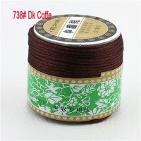 2mm Dk Coffe Nylon Cord Jewelry Findings Accessories Rattail Satin Macrame Rope Shamballa Bracelet Thread Beading Cords 60m/Roll