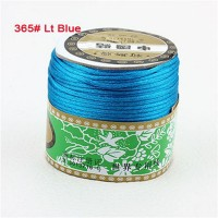 2mm Peacock Blue Nylon Cord Jewelry Findings Accessories Rattail Stain Macrame Rope Shamballa Bracelet Beading Cords 60m/Roll