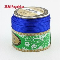 2mm Royalblue Nylon Cord Jewelry Findings Accessories Rattail Stain Macrame Rope Shamballa Bracelet Beading Cords 60m/Roll