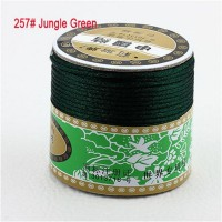 2mm Jungle Green Nylon Cord Jewelry Findings Accessories Rattail Satin Macrame Rope Shamballa Bracelet Beading Cords 60m/Roll