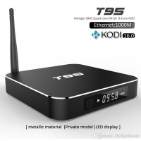 T95 1G+8G Amlogic S905 M8S Android TV Box Quad core 1G 8G 4K Smart TV Android Box with Android 5.1 OS Kodi16.0 Pre-installed 1000M Network