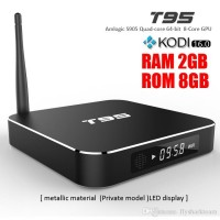 T95 2G+8G Android TV Box S905 Quad Core KODI16.0 XBMC fully loaded Android 5.1 8 Core Dual WIFI 1000M BaseT metal case 4K OTT TV Box