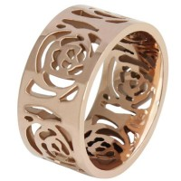 Chinese camelia Rose gold ring with hueco flower design,fashion and beautiful for woman valentine's day gift for novia