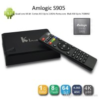 K1 Plus Amlogic S905 Android 5.1 Lollipop KI TV Box Quad Core 64-Bit 1GB/8GB H.265 Hardware Decoding 4K UHD WIFI DLNA