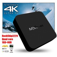 4K MXQ Kodi Tv Box Rockchip RK3229 Quad Core Android 4.4 Kitkat 1GB RAM 8GB ROM Support H.265 Smart Media Player Android Tv Box