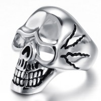 Stainless Steel Men Male Punk Skull Biker Ring Trendy Jewelry Size 8~12,Jewelry Stainless Steel Fashionable Skull Rings for Men
