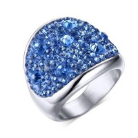 NEW Colorful Lover Rings circle piles rhinestone Diamonds Austrian Crystal Ring Costume Jewelry Rings
