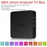 MX4 Smart Android TV Box RK3229 Quad core Cortex A7 1G/8G Bluetooth WiFi LAN 2160P XBMC DLNA UHD 4K*2K 3D H.265 HD Media Player