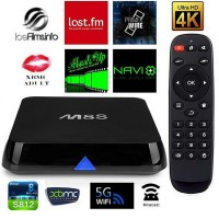 M8S Amlogic S812 Quad Core 2.0GHZ Android Smart TV Box 8G 2GB H.265 HEVC 4K 802.11AC BT4.0 HDMI SPDIF RJ45 XBMC KODI 14.2 TV BOX