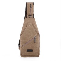 100% Cotton Canvas Motorcycle Bike Travel Hiking Messenger Shoulder Sling Chest Bag