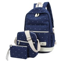 3 Sets Hot Cute Fashion Women's Canvas Backpack Travel Satchel Shoulder Bag chest bag purse Backpack School Rucksack