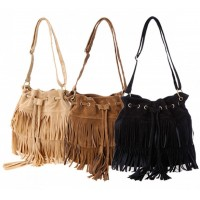 Fashion Women Fringe Tassel Shoulder Bag Crossbody Bag Messenger Handbag