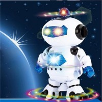 Electric Smart Space Walking Dancing Robot Children Kids Music Light Toys