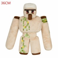2016 NEW Minecraft Plush Toys 36CM Minecraft Iron Golem Sword Pickaxe Stone Bed Box Model Toys Action Figure Kids Toys For Gift