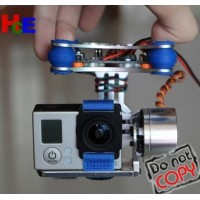 For DJI Phantom GoPro 3 FPV 2 Axis Brushless Gimbal With Controller