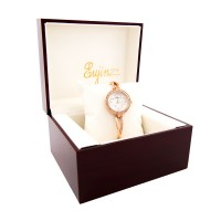 Yaqin Rosegold Ceramic Face with Crystal Stainless Steel Watch For Ladies / Free Shipping Within Malaysia