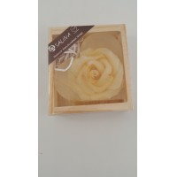 Salina Natural Handcrafted Soap in Love Shape With Flower