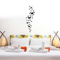 30 Butterfly Real Promotion Home Decorations Diy Silver Mirror Wall Sticker Large Decal Stickers