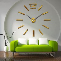 Metal+Eva+Acrylic Material 2016 New Free Shipping Fashion 3D Super Big Size Mirror Wall Stickers DIY Wall Clocks Home Decor